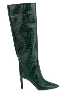 Jimmy Choo Mavis Tall Snake-Embossed Leather Boots