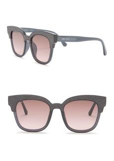 Jimmy Choo Mayela 50mm Glitter Square Sunglasses