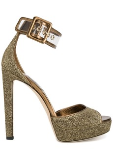 Jimmy Choo Mayner 130 lurex sandals