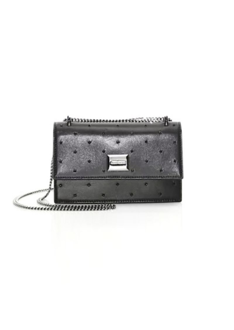 91e7ef1ae2c4 Jimmy Choo Mini Leni Embellished Leather Shoulder Bag