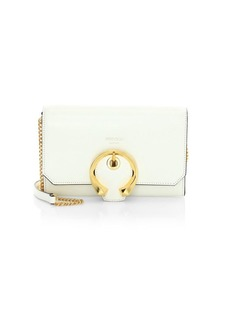 Jimmy Choo Mini Madeline Leather Wallet-On-Chain