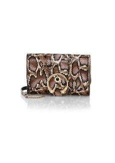 Jimmy Choo Mini Madeline Snakeskin Wallet-On-Chain