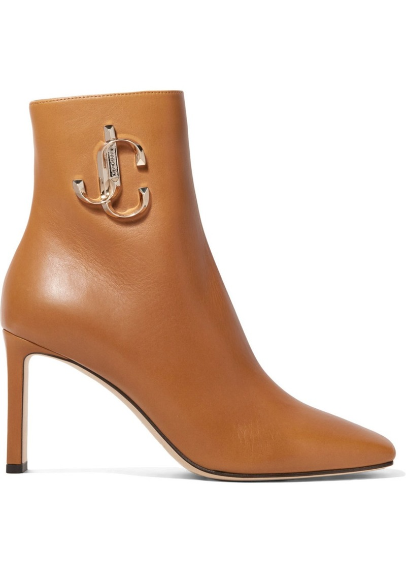 Jimmy Choo Minori 85 Embellished Leather Ankle Boots