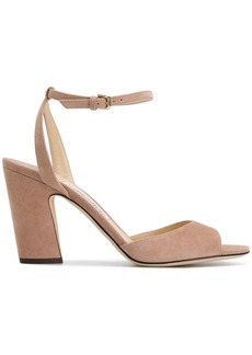 fbac252a69d Jimmy Choo Falcon Mixed Satin/Suede Sandal | Shoes