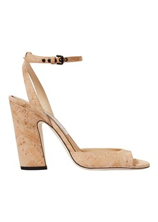 Jimmy Choo Miranda Cork Ankle Strap Sandals