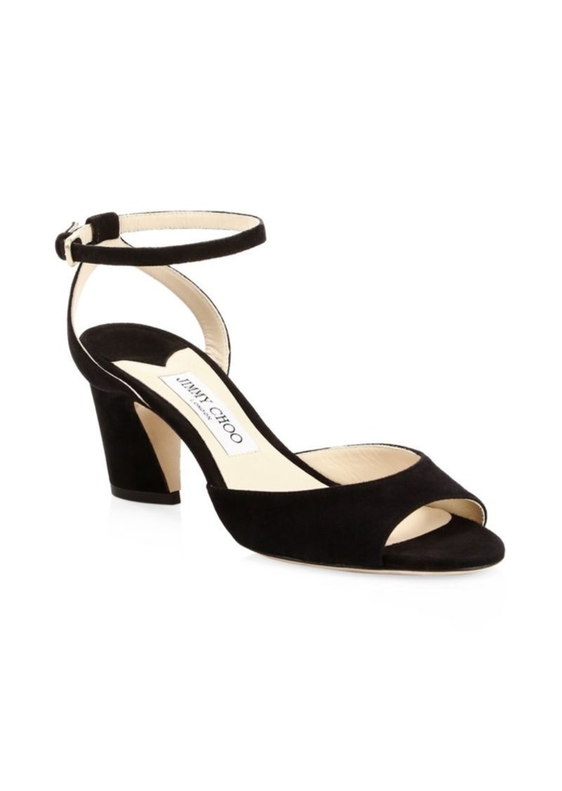 Jimmy Choo Miranda Ankle-Strap Suede Sandals