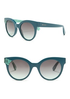 Jimmy Choo Mirta 49mm Round Cat Eye Sunglasses