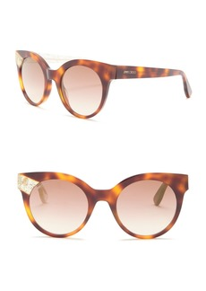 Jimmy Choo Mirta 49mm Round Cat Eye Sunglasses