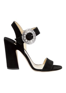 Jimmy Choo Mischa Crystal Buckle Sandals