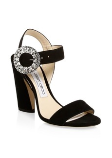 Jimmy Choo Mischa Suede Ankle-Strap Sandals