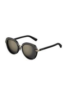 Jimmy Choo Mori Round Studded Sunglasses