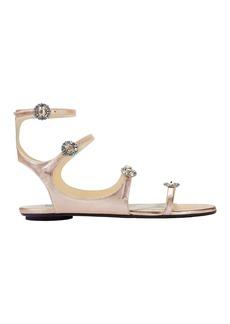 Jimmy Choo Naia Crystal Buckle Sandals