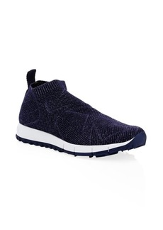 Jimmy Choo Norway Lurex Knit Sneakers