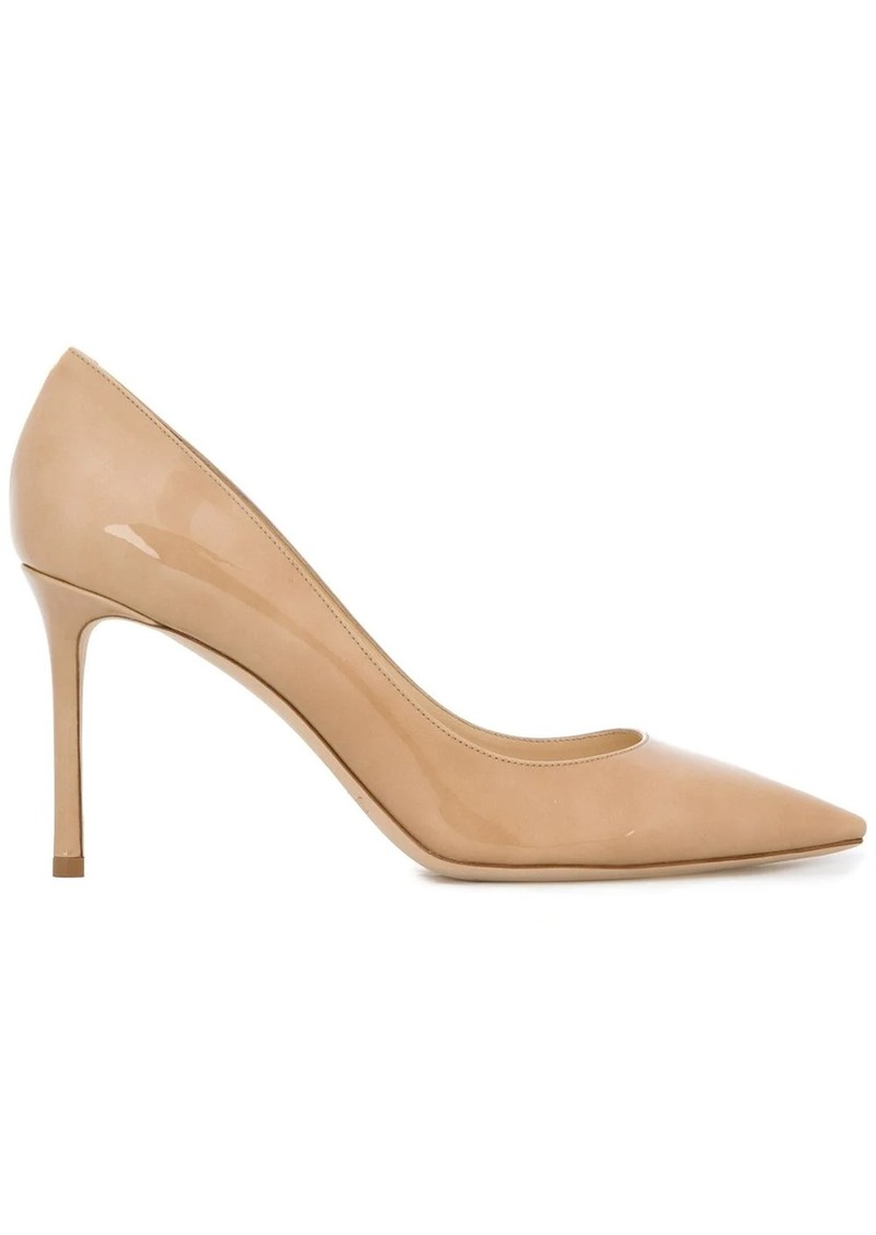 Jimmy Choo nude Romy 85 patent leather pumps