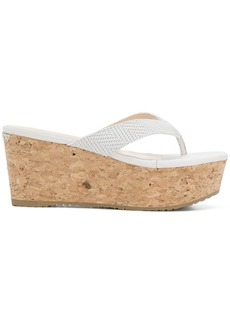 Jimmy Choo Paque wedge flip flops