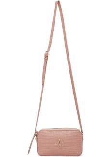 Jimmy Choo Pink Croc Hale Bag