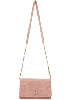 Jimmy Choo Pink Croc Palace Bag