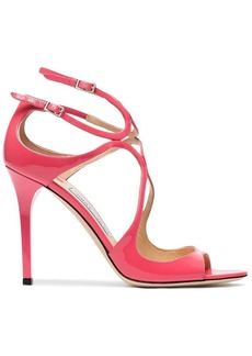 Jimmy Choo Pink Lang 100 Patent Leather Sandals
