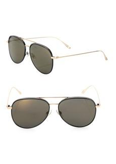 Reto 57MM Mirrored Aviator Sunglasses