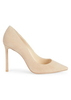 Jimmy Choo Romy 100 Suede Stiletto Pumps