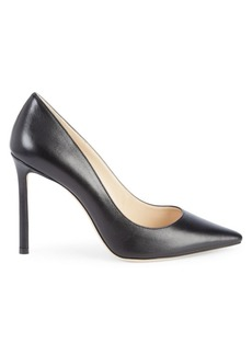 Jimmy Choo Romy Point-Toe Leather Pumps