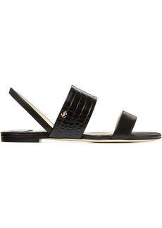 Jimmy Choo Seia embossed slingback sandals
