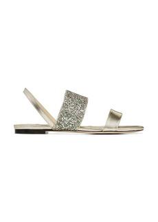 Jimmy Choo Seia glitter leather sandals