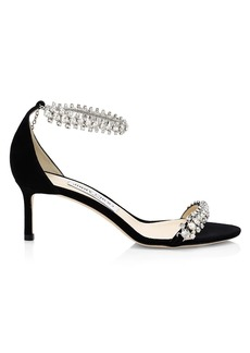 Jimmy Choo Shiloh Embellished Suede Sandals