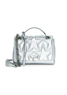 Jimmy Choo Small Helia Star Metallic Leather Shoulder Bag