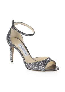 Jimmy Choo Star Coarse Glitter Sandals
