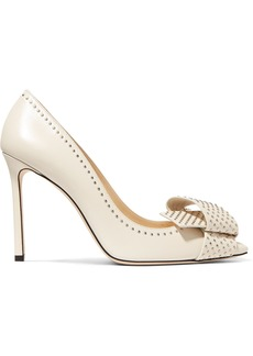 Jimmy Choo Tegan 100 Embellished Leather Pumps