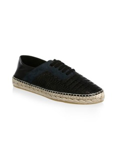 Jimmy Choo Textured Leather Espadrille