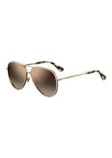Jimmy Choo Trinys Glittered Aviator Sunglasses