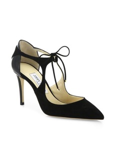 Jimmy Choo Vanessa Cut-Out Tie Pumps