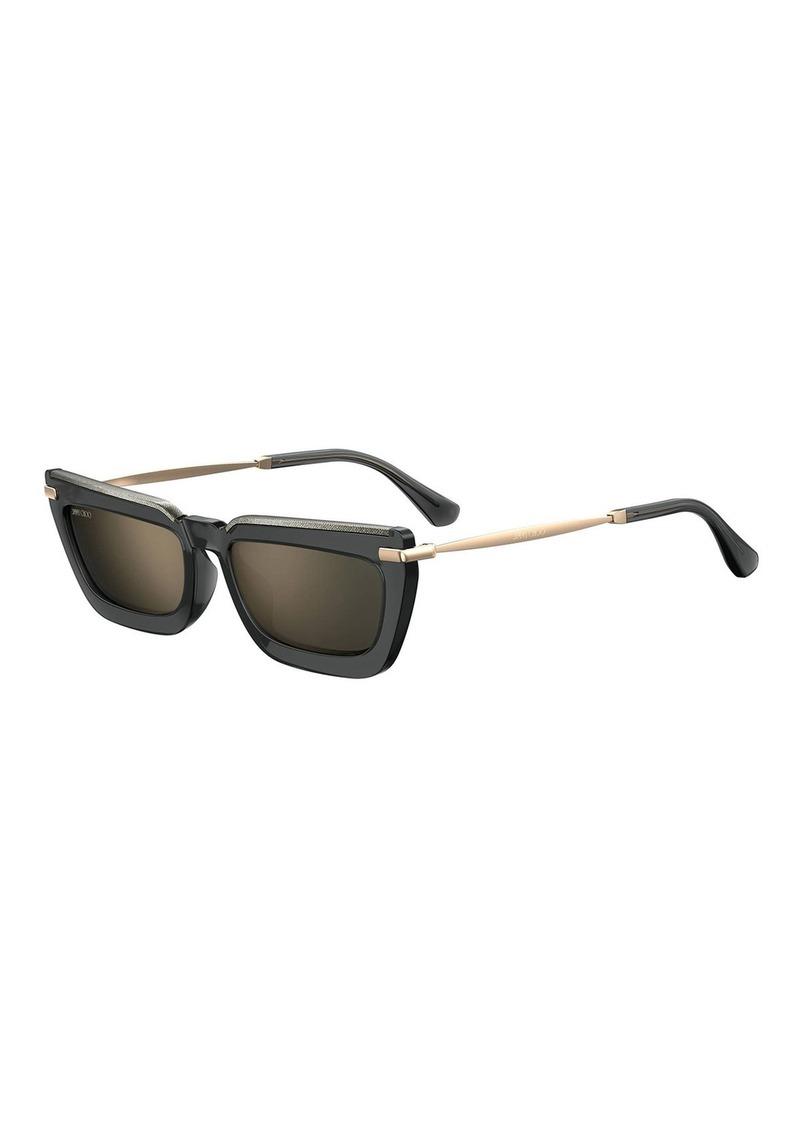 Jimmy Choo Velags Rectangle Propionate Sunglasses