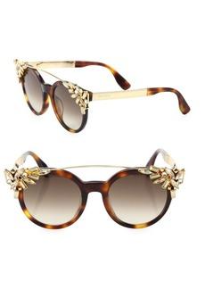 Vivy 51MM Crystal-Embellished Cats-Eye Sunglasses