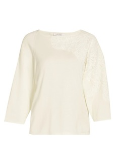 Joan Vass Applique Lace Sweater