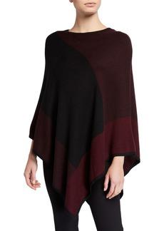 Joan Vass Asymmetrical Drape Poncho