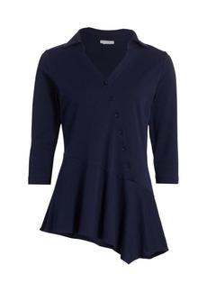 Joan Vass Asymmetrical Draped Tunic
