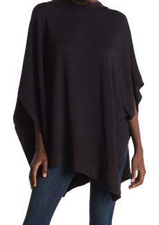 Joan Vass Brushed French Terry Hooded Poncho
