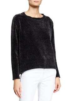 Joan Vass Chenille Pullover Sweater