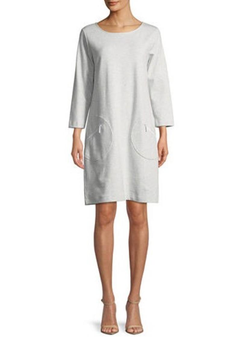 140d402ca Joan Vass Circle-Pocket Cotton Shift Dress Now $34.30