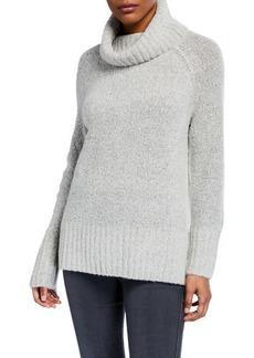Joan Vass Cowl-Neck Long-Sleeve Sweater