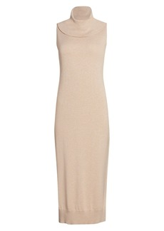 Joan Vass Cowlneck Sweater Dress