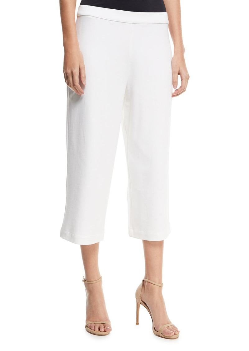 Joan Vass Cropped Wide-Leg Pants