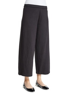 Joan Vass Easy Wide-Leg Ankle Pants