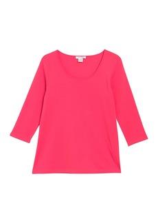 Joan Vass Jersey 3/4 Sleeve T-Shirt