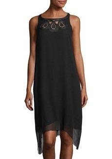 Joan Vass Asymmetric-Hem Midi Dress