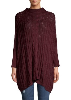 Joan Vass Cable-Knit Dolman Sleeve Top