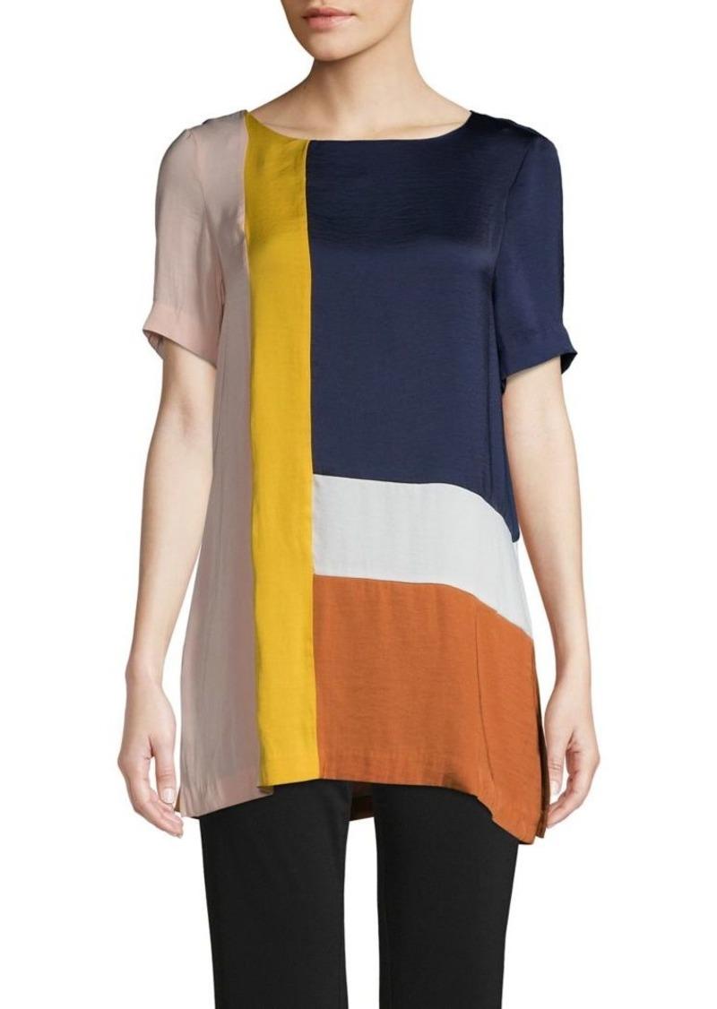 Joan Vass Colorblock Top